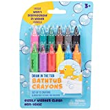Bath Crayons Super Set - Set of 12 Draw in the Tub Colors with Bathtub Mesh Bag, Unique Won't Disintegrate in Water Formula