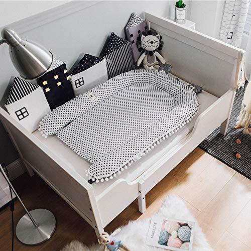 Baby Cot Tragbares Krippbett Abnehmbares Babyisolationsbett Neugeborenes Bionisches Bett Schlafendes Bett, 100 * 80CM (Schwarze Punkte)