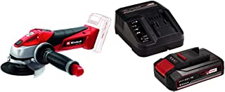 Einhell TE-AG 18 Li Solo Power X-Change 115 mm Cordless Angle Grinder with 2.5Ah Power X-Change Starter Kit - Battery and ...