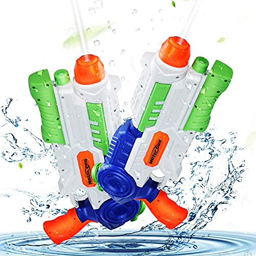 Ucradle Water Gun, 2 Pack Super Water Pistols with 1200ML Large Capacity,...