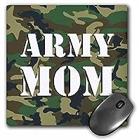 3drose LLC 8x 8x 0.25インチマウスパッド、Army Momグリーン迷彩(MP 15405_ 1)