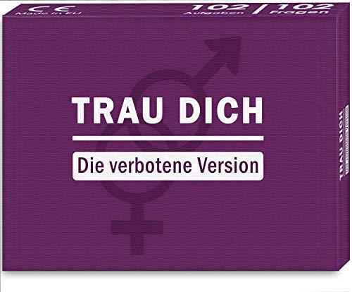 Kulinu TRAU Dich - Die verbotene Version - Das Wahrheit oder Pflicht Partyspiel - Kartenspiel Fragespiel mit feuerheissen Fragen und Aufgaben - Lustiges Geschenk für Männer und Frauen