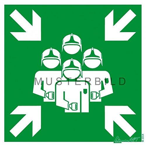 einsatzART Fun Hinweis Magnetschild 'Feuerwehr Sammelplatz' 18x18cm