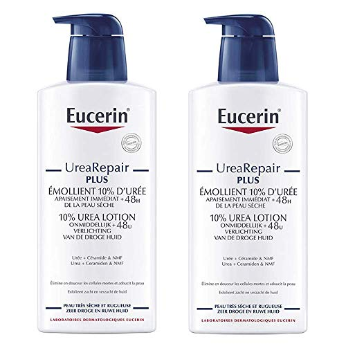 Eucerin Complete Repair Emollient Lotion 10{fdceb3faab6af88c0ef321b10fadcf1351a37116903daed97286ef23180b7c7e} Urea 400ml + 1 Free by Eucerin