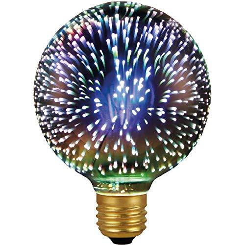 Garza Vintage Regenbogen - 3D Licht Filament LED Retro Globe Glühbirne E27 4,5W