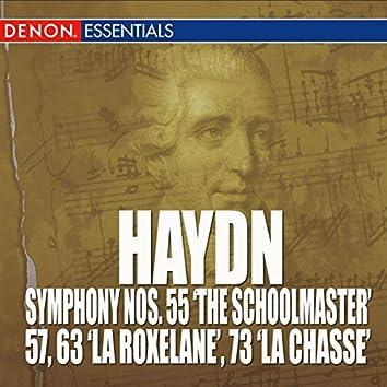 "Haydn: Symphony Nos. 55 ""The Schoolmaster"", 57, 63 ""La Roxelane"" & 73 'La Chasse'"