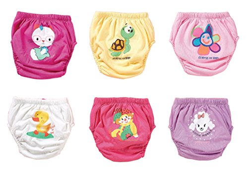 TIERWELT 6er Pack waschbare Trainerhosen in drei Gr. | Trainingswindel | Lernwindel | Toilettentrainerhose | Baby Training Pants | Kinder Unterwäsche Unterhosen | Windelhose | Töpfchen (Set 1, 100)