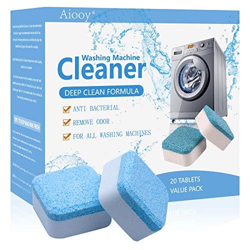 Limpiador sólido para Lavadora, Lavadora sólida Limpiador, Removedor de Limpieza Profunda con Descontaminación Triple, 20 Piezas