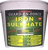 GUARD-EN-FORCE 5KG IRON SULPHATE PREMIUM MOSS KILLER and LAWN TONIC (Dilutes to 1,000-5,000 Litres) | Dry Powder easily soluble in water Lawn Conditioner, Fertiliser, Grass Greener & Turf Hardener
