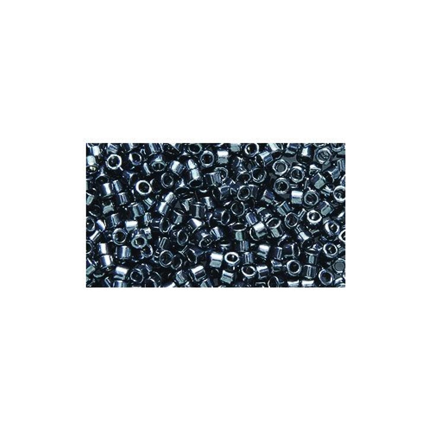 Miyuki Delica Seed Bead 11/0 DB453, Galvanized Dark Gunmetal, 9-Gram/Pack