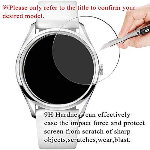 [3 Pack] Synvy Tempered Glass Screen Protector for Hamilton Khaki X-Wind GMT Chrono Quartz H77922141 / H77922341 / H77922541 9H Protective Screen Film Protectors Smartwatch Smart Watch