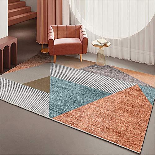 Rutschfester Teppich Wohnzimmer Schlafzimmer Teppich orange grau blau feuchtigkeitsfest Rutschfester Teppich Zimmer 60x90cm 1ft 11.6' X2ft 11.4'