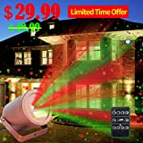 Christmas Laser Lights Outdoor Moving Star Projector Waterproof IP66 Decoration Red & Green Aluminum Laser Show Light Model-ARG in Bronze by Cheriee