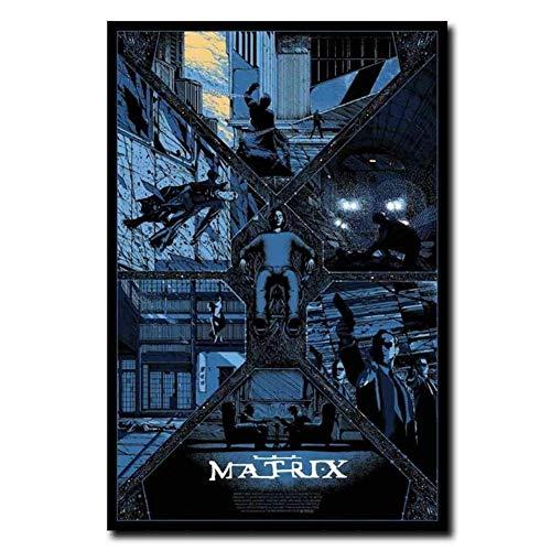 NRRTBWDHL Die Matrix Fight Classic Film Retro Film Kunst Poster Leinwand Malerei Home Decor Poster und Drucke Drucken auf Leinwand-50x70cm No Frame