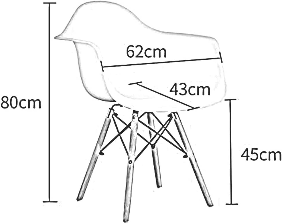 Dall Chaise De Salle À Manger Bois Massif Dossier en Plastique Chaise De Table Facile À Assembler Pratique Confortable Hauteur D'assise 45cm (Color : Pink) Black