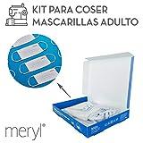 Kit para coser mascarillas Meryl Skinlife Force de 100 usos. 5 unidades adulto reutilizables