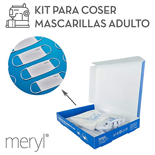 Kit para coser mascarillas Meryl Skinlife® Force de 100 usos. 5 unidades adulto reutilizables