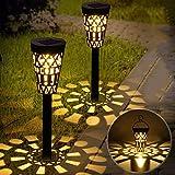 Lampe Solaire Jardin GolWof 2 Pièces Lumière Solaire Extérieure Étanche...
