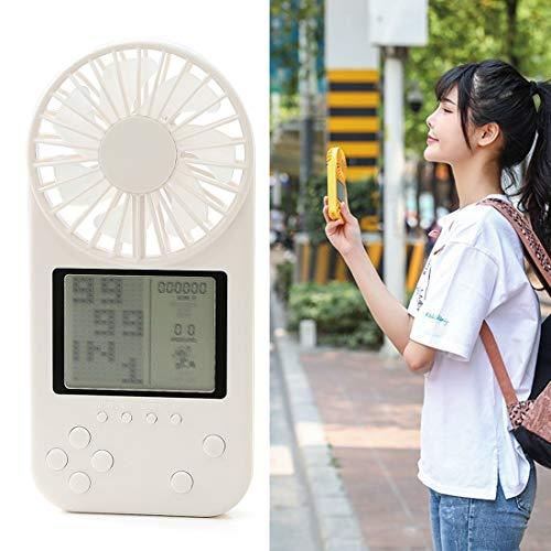 YANGJIE F2 Mini ventilador eléctrico de juego de mano, con control de 3 velocidades Mini ventilador de mano (color blanco)