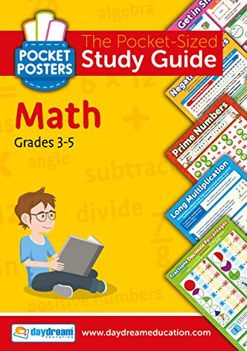 Math Elementary Study Guide (Grades 3-5) - Pocket Posters: The Pocket-Sized Study Guide