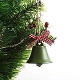 XXXKK Decoración Navideña,Verde Campanas De Navidad Bolas Adornos Brillo Decoración De Árboles De Navidad Bolas Decoraciones Colgantes De Navidad Colgante Pequeño De Navidad para La Decoraci