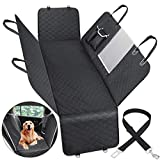 Nisahok Dog Car Seat Cover for Back Seat with Mesh Window Back Seat Cover for Dog, Car Hammock for Dogs Back Seat, Oxford Cloth Material Waterproof Anti-Scratch for Back Seat Protector for Cars