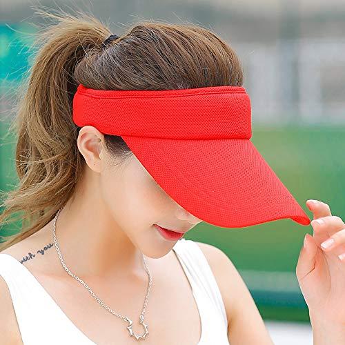 Sombrero Deportivo para Mujer, Sombrero para el Cielo de Verano, Sombrero para el Sol para Correr al Aire Libre Masculino, versión Coreana del Sombrero para el Sol para Estudiantes Salvajes, Sombrero