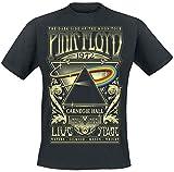 Camiseta 'Dark Side Of The Moon' de Pink Floyd, concierto en directo de 1972, negro Negro negro Small