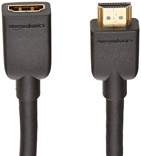 Amazon Basics High-Speed Male to Female HDMI Extension Cable - 6 Feet
