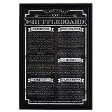 Hathaway Shuffleboard Game Rules Wall Art, Black