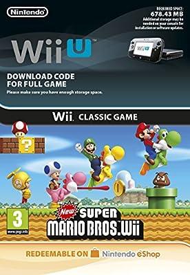 Wii Classics New Super Mario Bros. Wii [Wii U Download Code]