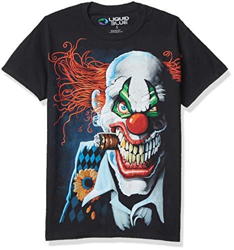 Liquid Blue Playera de payaso Joker talla grande para hombre -  Negro -  XX-Large
