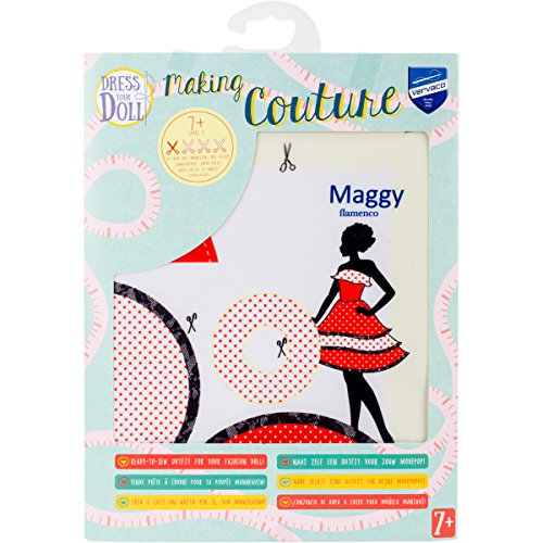 Dress Your Doll Making Couture Outfit Set-Maggy Flamenco
