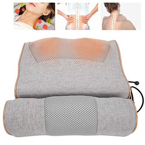 Almohada de masaje para el cuello, masajeador de espalda eléctrico masajeador de...
