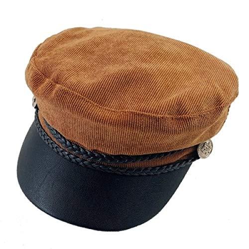 YUY Boina Sombreros Sombrero De Pana Mujer Otoño E Invierno Casual Sombrero De Pintor Salvaje del Negro,B