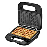 Laukingdom Belgian Waffle Maker with Removable Plates, Sandwich Maker, Panini Press Grill,Toaster...