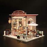 Navigatee Diy Puppenhaus Bausatz Miniatur Kit Miniatur Villa, DIY Hütte, Hölzernes...