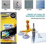 Kaufam Kit Riparazione Parabrezza Auto, Kit Riparazione Vetro, Resina Liquida Glass Repair Kit per Crepe o Scheggiature Dovute da Pietre o Grandine