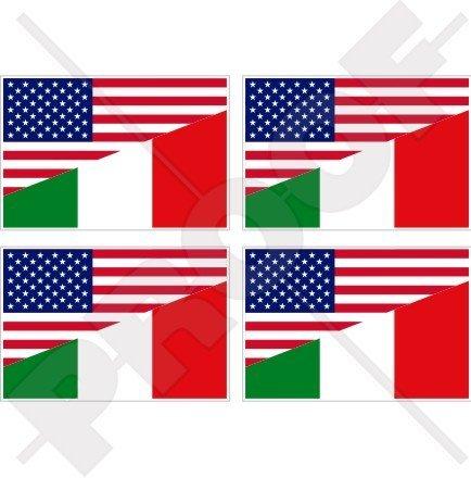 USA Verenigde Staten van Amerika & ITALIË vlag, Amerikaanse & Italiaanse 2