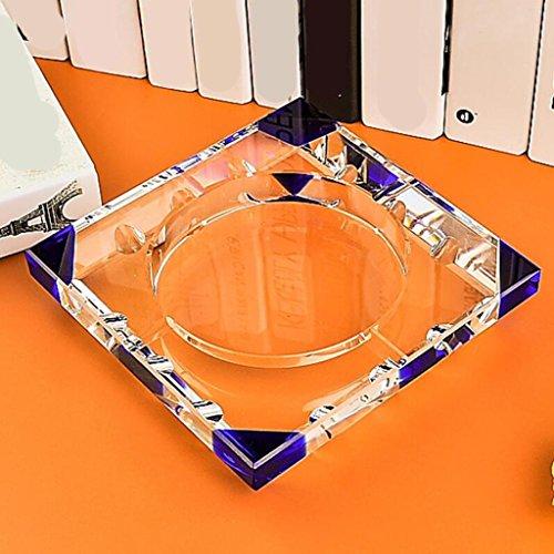 cendrier Xuan - worth having angulaire bleu Mode Cadeaux créatifs Cristal Cristal cristal Décoration de salon (taille : 20*20cm)