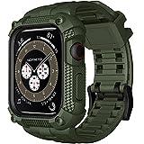 Wristitani Cinturino per Apple Watch 44mm 42mm, Compatibile per iWatch 6/SE/5/4 Sportivo Stile Militare Cinturino Apple Watch con Custodia Protettiva Resistente Agli Urti e Proteggi Schermo