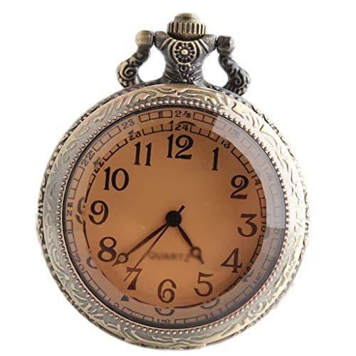 Reloj de Bolsillo Reloj de bolsillo retro Clamshell moda Nostálgico Pointer Árabe reloj de bolsillo mecánico for los amigos for enviar regalos de cumpleaños Los compañeros de clase de cristal del té +