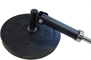 yuhqc Deluxe T-Bar Row Platform,  Barbell T-Bar Row Plate Post Insert Landmine Full 360° Swivel,  Fits 2 Inch/1 Inch Olympic Bars, Single Landmine Handle (2Inch T-Bar)