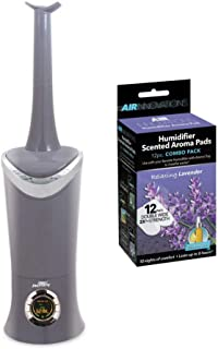 Air Innovations MH-701B-PLAT Clean Mist Ultrasonic Humidifier (Platinum) w/Air Innovations AP01-LAVENDER Humidifier Aroma Pads (Lavender Scent)