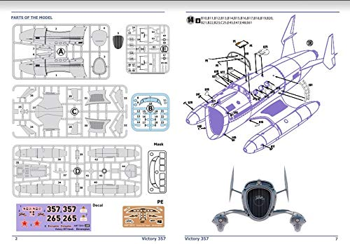 AMP 72-010 - 1/72 - Victory 357 Hawk. Prototype Aircraft Scale Plastic Model 7