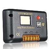 RanDal Controlador De Carga Solar 15A Controlador De Pantalla Lcd Controlador Solar Para La Bomba De Agua Del Panel De Energía Solar Pwm