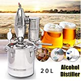 Beer Distillation 20 L DIY Alembic Alcohol Wine Whiskey Distiller Distillation Temperature Serpentine Water Essential Oils Vodka Staple Distillers Complete Beer Kit New 5 Gallon