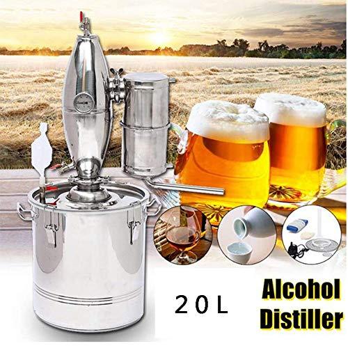 Destillation Bier 20 l DIY Alambicco Alkohol Wein Whisky Destillator Temperatur Serpentin Wasser Ätherische Öle Vodka Grappa Destillatoren Komplettset Bier Neu 5 Gallon