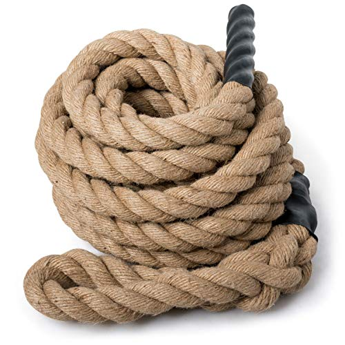 Goplus Gym Climbing Rope for Indoor Outdoor Crossfit Exercise, 800lbs Capacity for Fitness Workouts, 1.5'' in Diameter, No Mounting Bracket Needed, Length Available 10, 12, 15, 18, 20, 25, 30ft