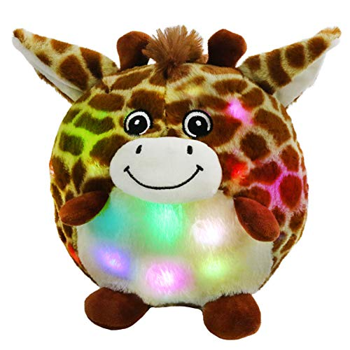 SpecialYou Chubby Glow Giraffe LED Light Up Stuffed Animal Adorable Soft Plush Toy Pillow for Bedtime Pal Nursery Room Decoration Gift for Kids Boys Girls9#039#039